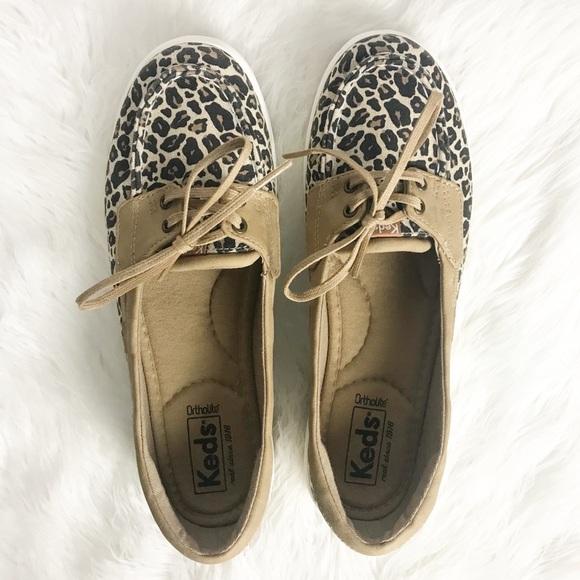 Keds Glimmer Slipon Boat Shoe Leopard